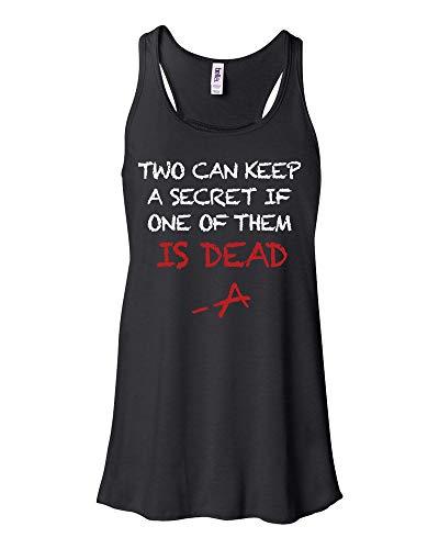 PLL Two Can Keep A Secret Logo Pretty Little Liars Merchandise Flowey Tank Top For Women (Black, Medium)