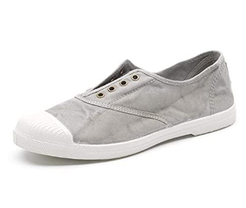 Natural World Eco - 102E - Natural World Mujer - Zapatillas Mujer - Calzado Mujer - 100% EcoFriendly - Hecho en España (37, Gris)