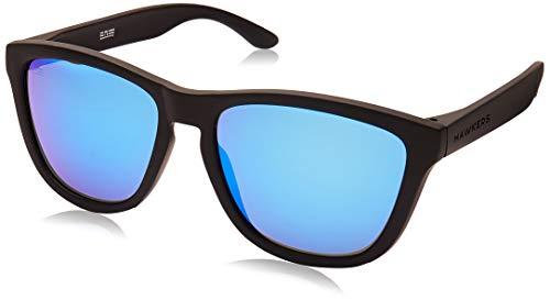 HAWKERS - Gafas de sol para hombre y mujer ONE , Negro polarizado/Azul