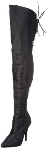 Pleaser LEGEND-8899 Damen Stiefel, Schwarz (Blk leather (p)), EU 45 (UK 12) (US 15)