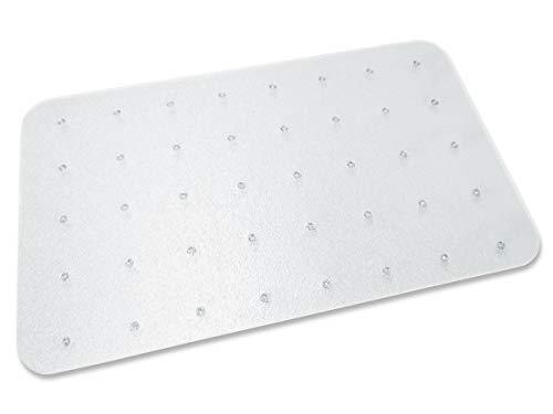 Transparente Bodenschutzmatte, 120 x 150 cm, aus Makrolon®, Schutzmatte mit Noppen für Teppichböden, 17 weitere Größen und Formen wählbar