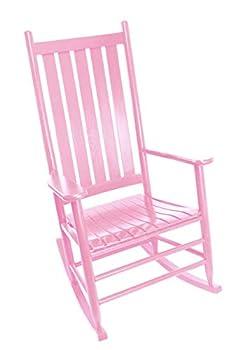 Dixie Seating Asheville Wood Rocking Chair No 907SRTA Coastal Pink