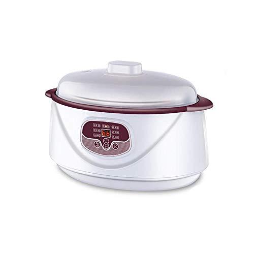 Slow Cooker Crock Pot, Cita De 24 Horas Olla De PresióN EléCtrica Modos De Calentamiento MúLtiples Olla De CoccióN Lenta PequeñA Que Incluye La FuncióN Retardo Y Mantener Caliente
