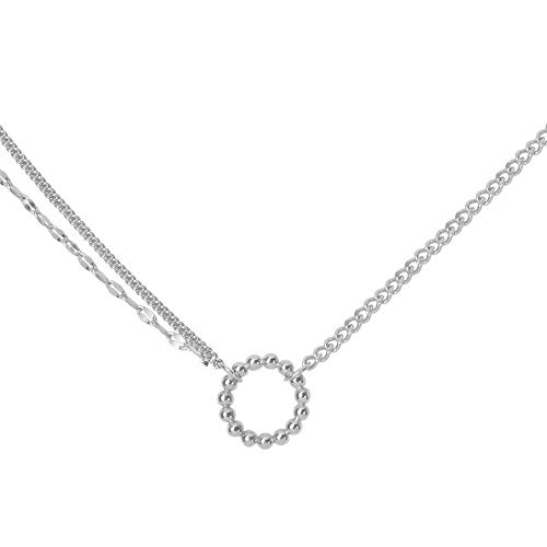 AAA Collar de gargantilla de temperamento francés para mujer, diseño de moda, cadena de doble capa