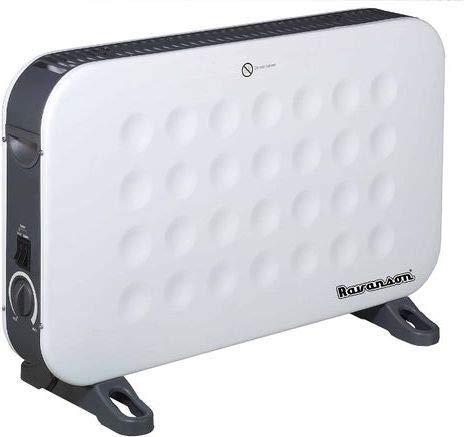 Ravanson CH-9000WT - Termoconvettore Elettrico con Ventola Turbo 750/1250/2000 W, Colore: Bianco