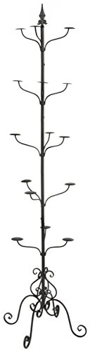 Displays2go Wrought Iron Hat and Coat Rack, Rotates, Total...