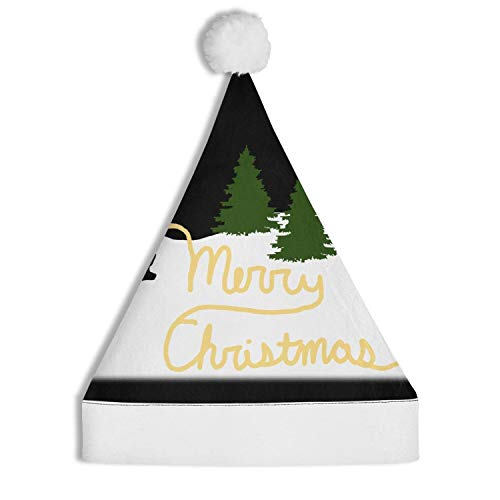 Santa Peeing Merry Christmas Santa Hat Christmas Decoration Hat Non-Woven Hat Fashion for Adults and Children
