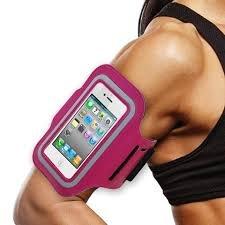 NOuch(TM) Sportliches Armband mit Ohrhörern und Mikrofon, für iPhone 6 (4,7 Zoll), iPhone 5/5S/5C, Samsung Galaxy Note 3, 4, S5 und andere Handys und iPods bis 14 cm (14 Zoll) Bildschirmgröße, Pink