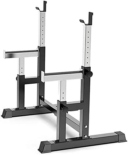 WXking Casa Equipo Ajustable Squat Rack Rack Stat Soporte Multi Función Dipping Station Stand Stand Home Gym Fitness Formal Formación Equipo de Entrenamiento Bench Press Heavy Acero Barbell 300kg MAX