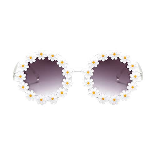 TENDYCOCO Damen Sonnenbrillen Mode Gänseblümchen Sonnenblumen Sonnenbrillen Blumenform Brillen Party Sonnenbrillen für Erwachsene