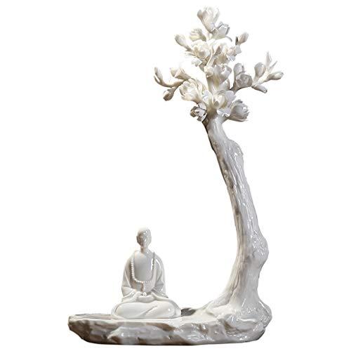 NYKK Ornamento de Escritorio Zen-cerámica Estatua Estatua decoración del hogar-Decoración Cerámica Escultura hogar Creativo artesanías decoración
