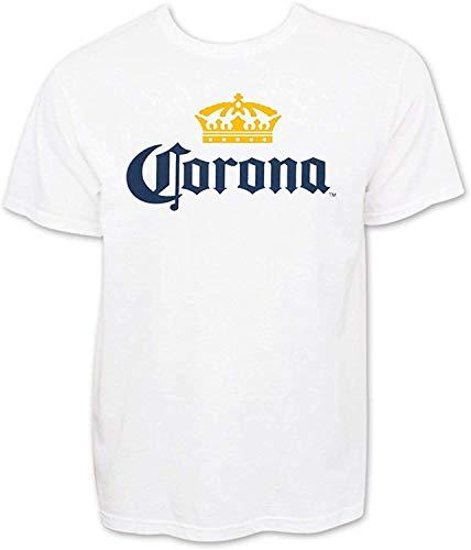 GDHGD Corona Extra Men 'con Maglietta Logo Birra Bianca XL