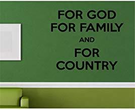 Pegatinas de pared de vinilo removibles para la familia de Dios y para la decoración del hogar del país