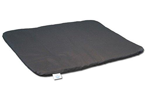 Blue Banyan Meditation Mat, Zabuton, Flat Mat - Made in the UK. Zen Black
