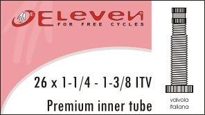 ELEVEN CAMERA D'ARIA 26X1 1/4 13/8 VALVOLA ITALIANA 40MM