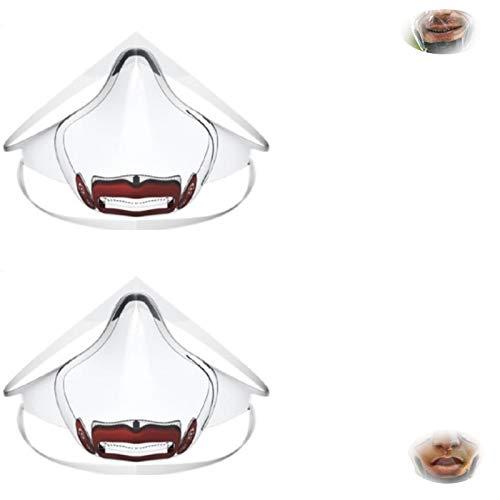 HHKX100822 2 Stück Pc-Abdeckung Lippensprache Transparenter Schutz Spritzschutz Isolierschutz Super Klar, Bequem Und Praktisch rot