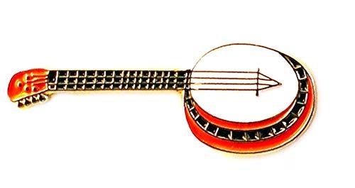 Pin de Metal esmaltado, Insignia Broche Banjo
