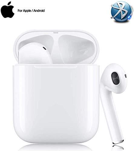 Bluetooth Kopfhörer, In-Ear Kabellose Kopfhörer, Sport-3D-Stereo-Kopfhörer, mit 24H Ladekästchen und Integriertem Mikrofon für/iPhone/Android/Samsung