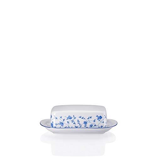 Rosenthal - Arzberg - Form 1382 - Butterdose - Blaublüten - Porzellan - blau / weiß