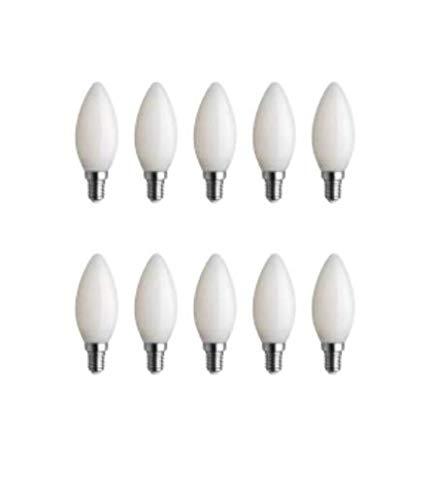 Bot Lighting Shot Juego de 10 bombillas LED oliva cristal blanco leche...