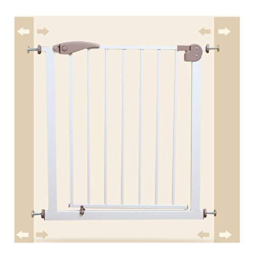 YINGER Geländer Baby Gate Gate Verlängern Säugling Kind Tor Zaun Treppengeländer Zaun Haustier Hund Zaun Pol Baby Isolation Tür (Farbe: Weiß, Größe: 75-82 Cm)