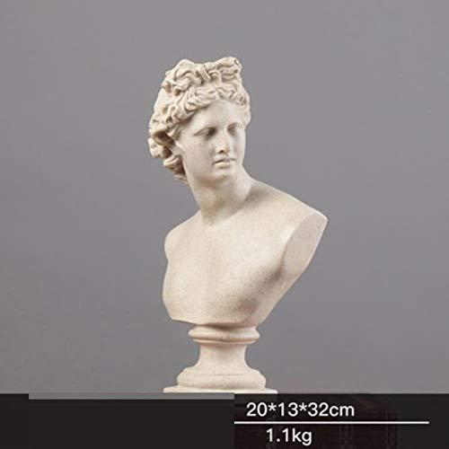 Denker Anna Venus Göttin Kunststatue Römische Mythologie Aphrodite Figur Harz Handwerk Home Dekoration, Grau