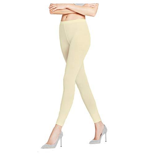 KNL Kinder-Leggings, volle Länge, aus Viskose, dehnbar, weich, normale Leggings, 4P Gr. 9-10 Jahre , cremefarben