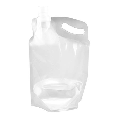 Weikeya Bolsa de Almacenamiento de Agua Plegable, Portador de Almacenamiento de Agua Conveniente 31.5 * 20 * 3 cm Hecho de PE 2L para al Aire Libre Camping Senderismo
