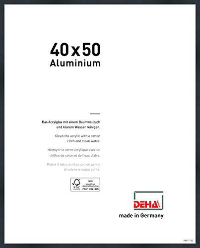 DEHA Aluminium Bilderrahmen Tribeca, 40x50 cm, Struktur Schwarz Matt