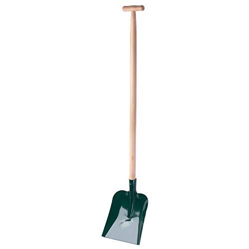 KADAX Schaufel, Schippe mit ergonomischem Holzstiel, Sandschaufel mit Griff, Spaten, Blatt aus Metall, für Garten, BAU, zum Graben, Gartenwerkzeug, Grabschaufel (T-Griff)
