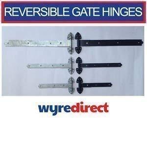 Qazxsw Wyre Direct 2X Cerniera per cancello Reversibile con Gancio Resistente e Fascia Stabile per Porta 14'(350Mm) zincata