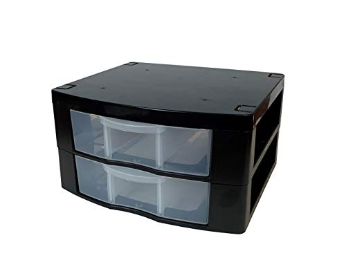"""Tools for School Locker Drawer. Includes 2 Removable Drawer Dividers. Heavy Duty. Fits 12"""" Wide Locker (Black Double)"""