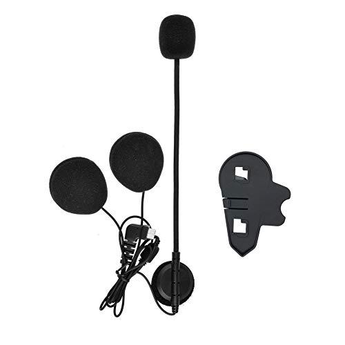 QSPORTPEAK Micrófono Auricular Cable Duro Auricular y Clip Accesorio para BTS3 Serie Casco de la Motocicleta Bluetooth Interphone Moto Intercomunicador(Interfaz de Tipo C)