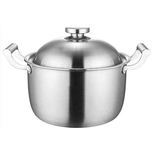 Sopa Crisol del acero inoxidable de cinco capas de material compuesto de acero antiadherente Pan sopa sin recubrimiento vapor cocina de inducción sopa de olla lucar (Size : 26cm)