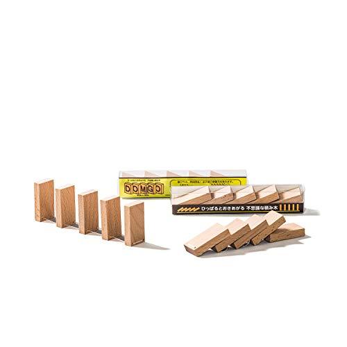 ひっぱるとたちあがる ふしぎな つみき DOMIGO 日本製 パズル おもちゃ 木のおもちゃ プレゼント 男の子 女の子 誕生日 つみき 積木 ドミノ ドミノ倒し 木製玩具 贈り物 立体パズル オモチャ ブロック 3歳 4歳 5歳 (ミニ)