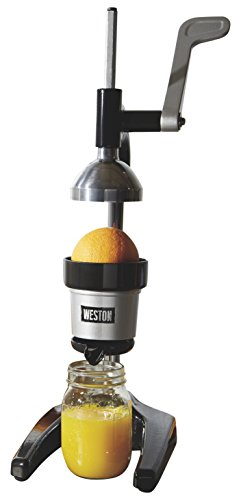 Weston Pro Series Heavy Duty Citrus Juicer, BPA Free, Easy Clean (66431), Fits under Most Kitchen Cabinets, Black & Stainless