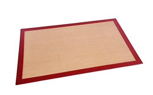 Backmatte aus fiberglasverstärktem Slikikon/für Backbleche GN 1/1 - Abmessung: 52 x 31,5 cm/für Backbleche 60 x 40 cm - Abmessung: 59 x 39 cm (Für Backbleche 60 x 40 cm)