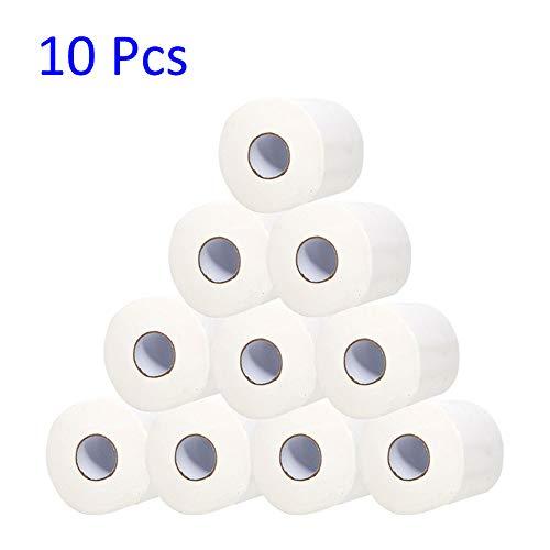 delibett Toilettenpapier Standard, 10 Rollen Klopapier, 3-lagig gestepptes Toilettenpapierrollen Angenehm weich, sicher und saugfähig