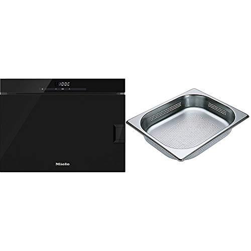 Miele DG 6001 GourmetStar Stand-Dampfgarer/Obsidian-schwarz & DGGL 4 gelocht Dampfgarerschale/edelstahl/Boden gelocht