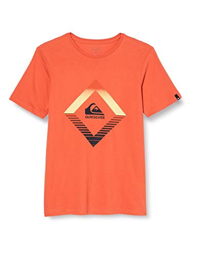 Quiksilver Jungen T-Shirt Tropical Mirage - T-Shirt für Jungen 8-16, Chili, S/10, EQBZT04226