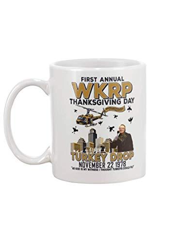 NA Primo annuale WKRP Thanksgiving Day Turkey Drop 22 Novembre 1978 novità Tazza da caffè in Ceramica - Bel Regalo Motivazionale e ispiratore