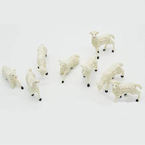 Set 48 Pezzi Pecorelle in Miniatura per Presepe 2 x h. 2 cm in Resina Animali Pecore Assortite...