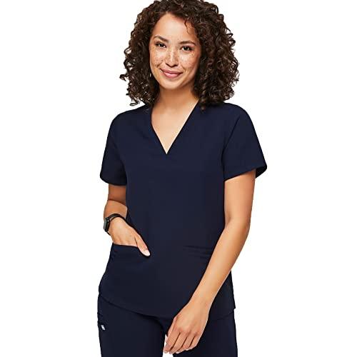 FIGS Casma Three-Pocket Scrub Top for Women – Navy Blue, S