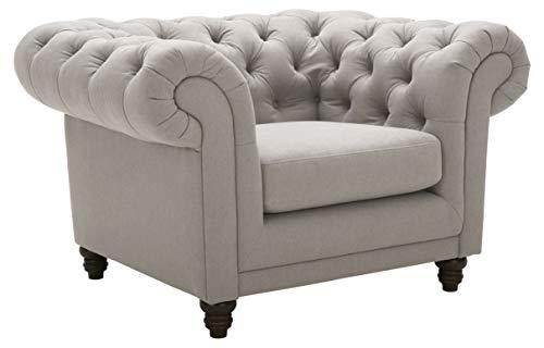 """Amazon Brand – Stone & Beam Bradbury Chesterfield Classic Chair, 50""""W, Slate"""