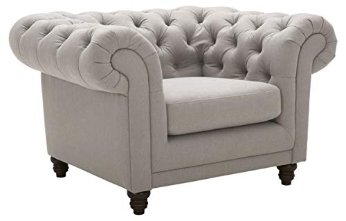 Amazon Brand – Stone & Beam Bradbury Chesterfield Classic Chair, 50'W, Slate
