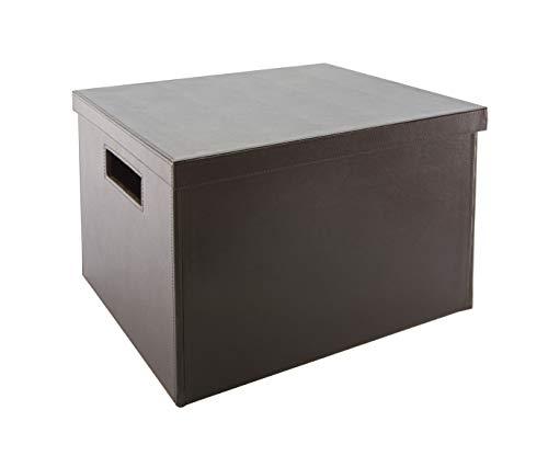 OSCO Medium Faux Leather Folding Box - Brown, braun, BPUFB/M