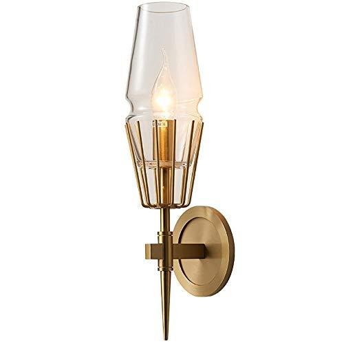 Lámparas de Noche Sin Cable, 2 Cabezales E14 Modelo Minimalista Posmoderno Habitación Nórdica Personalidad Creativa para Pasillo Lámpara de Vidrio para Sala de Estar Interior Espejo de Tocador