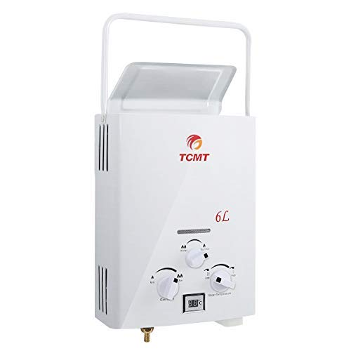 Tengchang Portable 6L Tankless Hot Water Heater Propane 1.6 GPM Gas LPG Outdoor Camper