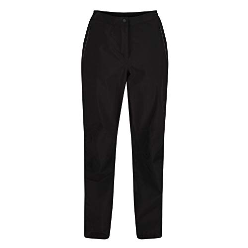 Regatta Surpantalon Technique Femme Highton Stretch Overtrousers Femme Black FR: XL (Taille Fabricant: XL)