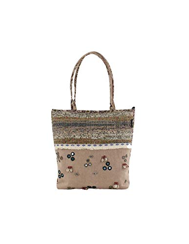 For Time Canvas Shoulder Bag Ethnic Olmeto